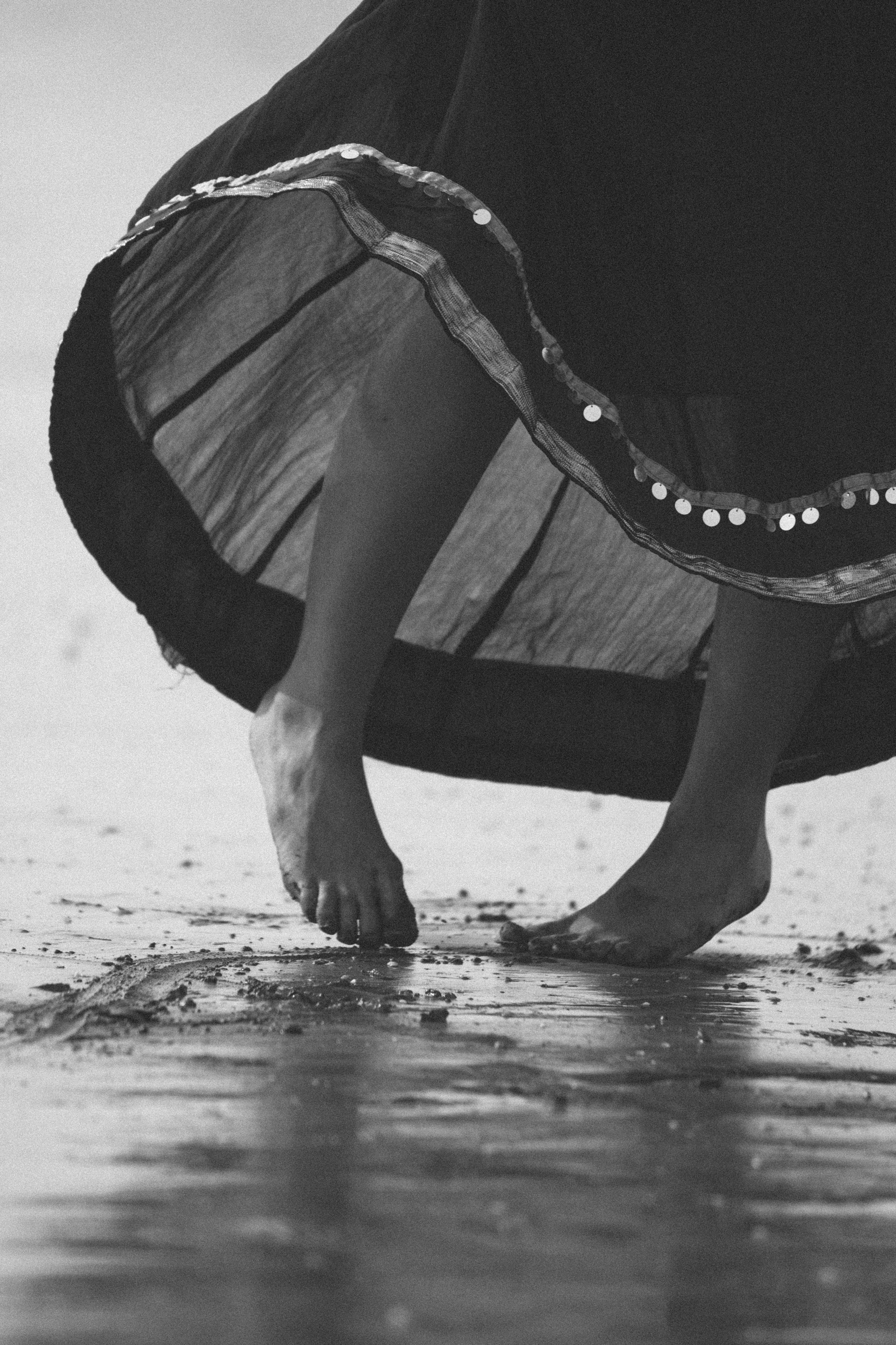 Free stock photo of beach, dance, feet, girl