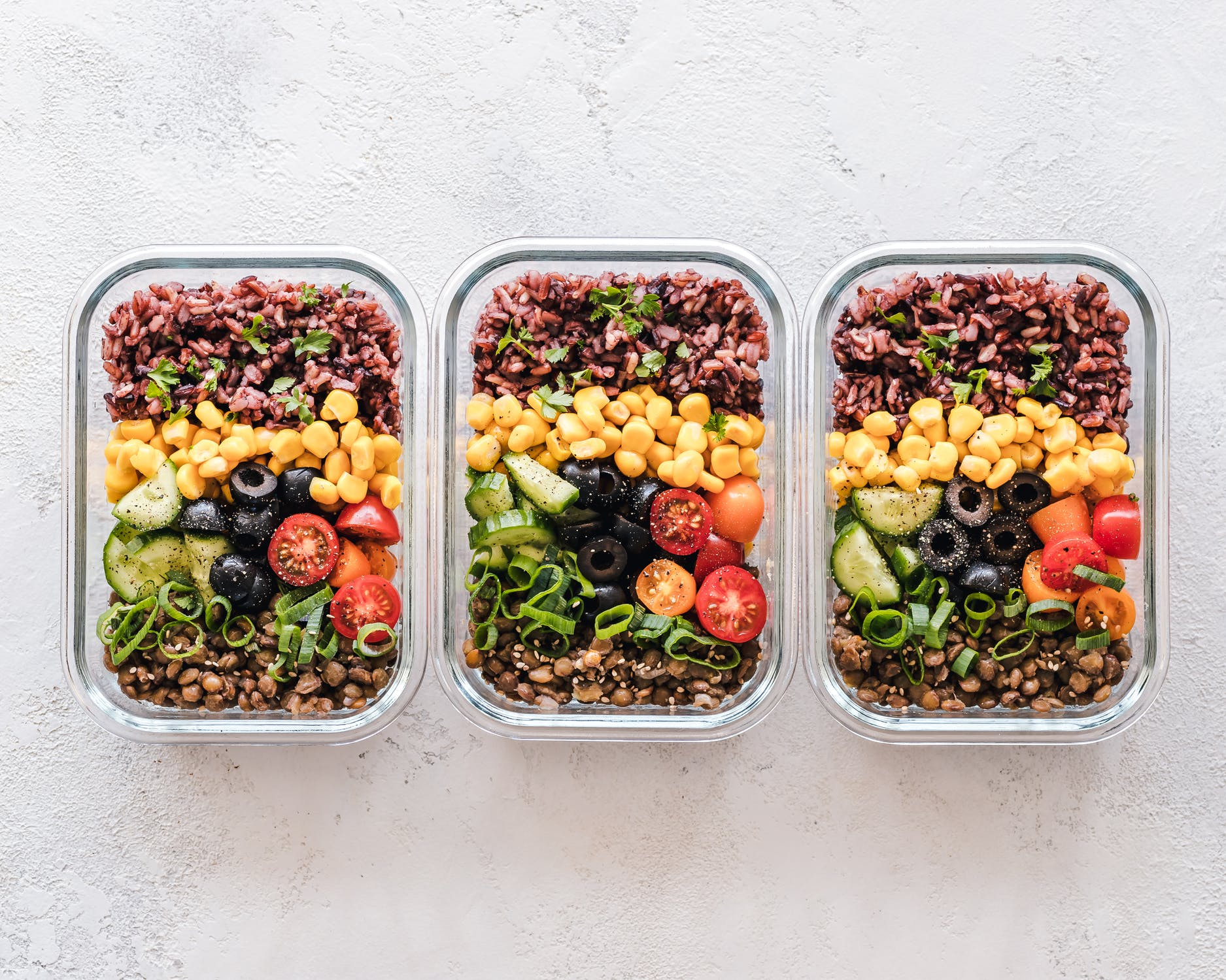 3 food prep containers