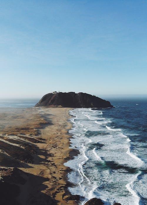 คลังภาพถ่ายฟรี ของ dji mavic pro, กลางวัน, จากข้างบน, ชายทะเล