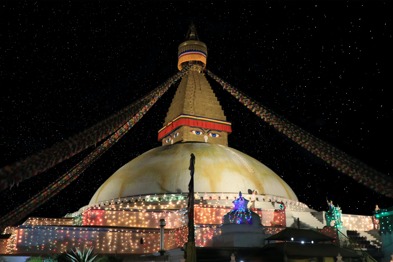 Free stock photo of boudha, boudhanath, night view of stupa in boudha