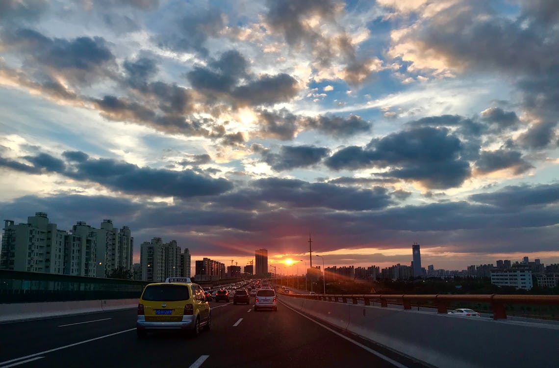 autoroute, circulation, conduire