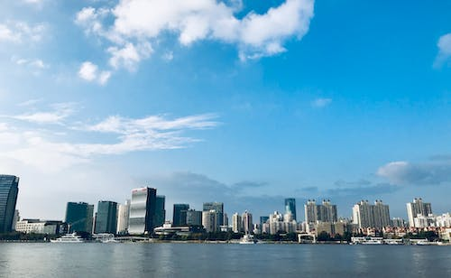 Free stock photo of blue sky, huangpu river, river side, shanghai