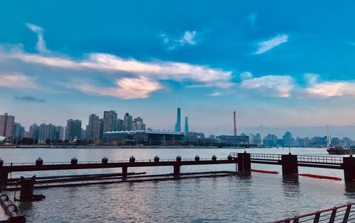 Free stock photo of Colorful sky, expo, huangpu river, nanpu birdge