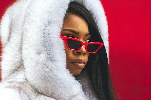 Fotos de stock gratuitas de abrigo, abrigo de piel, desgaste, Gafas de sol
