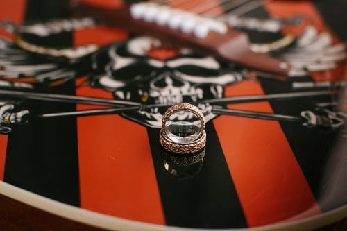 Free stock photo of guitar, wedding, wedding rings