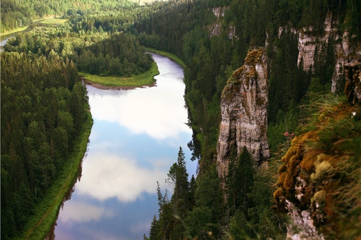 Photography of Mountain and River