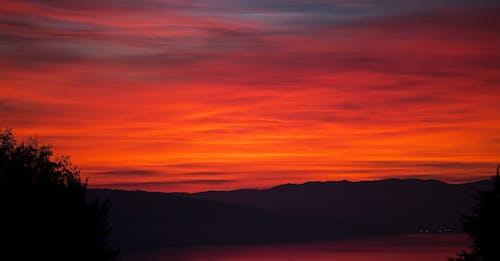 คลังภาพถ่ายฟรี ของ กลางแจ้ง, ซิลูเอตต์, ตะวันลับฟ้า, ท้องฟ้า
