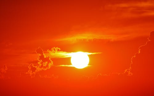 Foto d'estoc gratuïta de alba, brillant, capvespre, cel