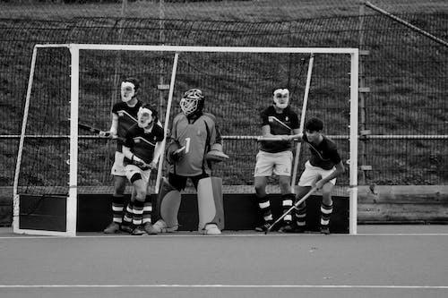 Photos gratuites de équipe, hockey sur gazon