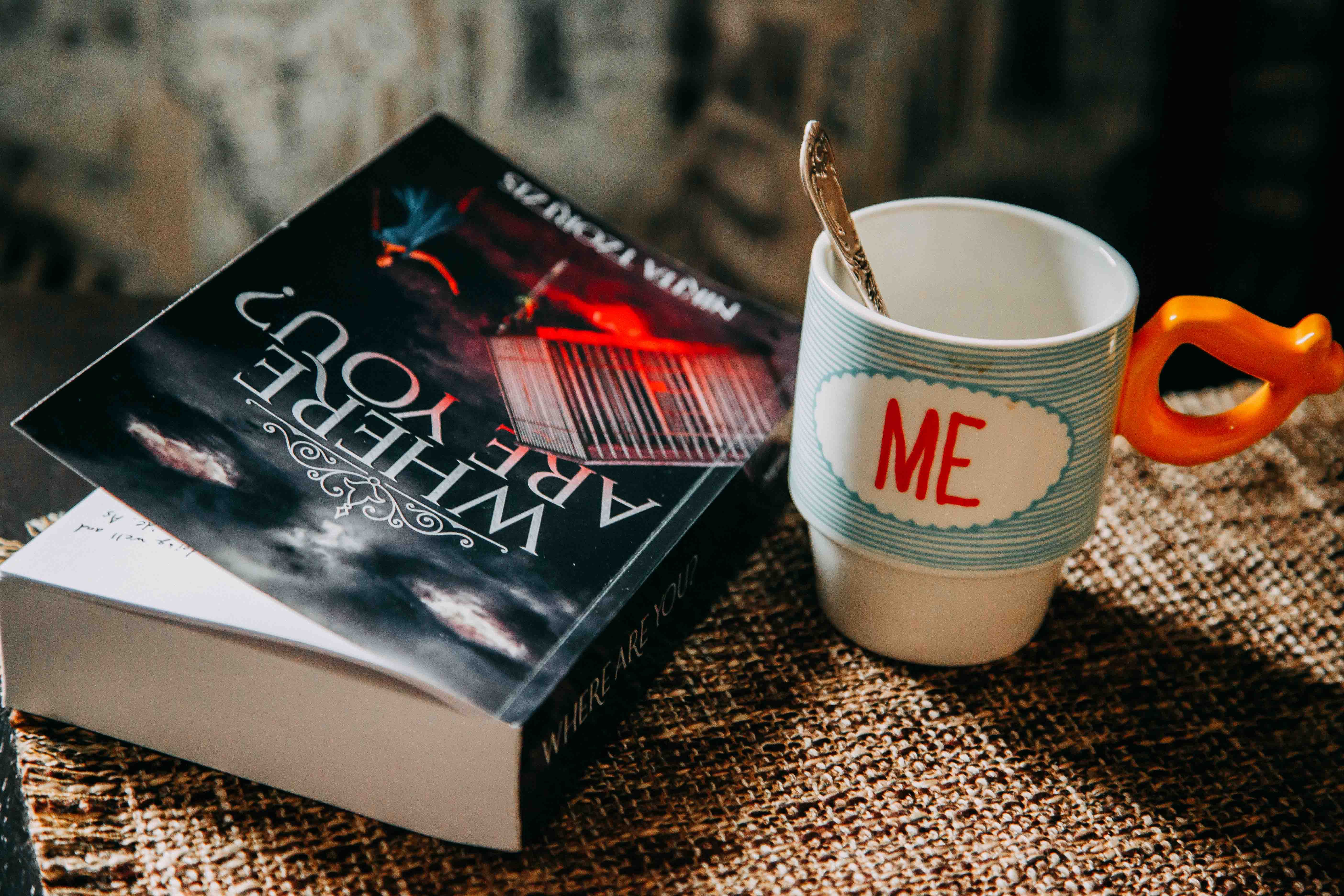 Where Are You? Book Beside Me Printed Cup