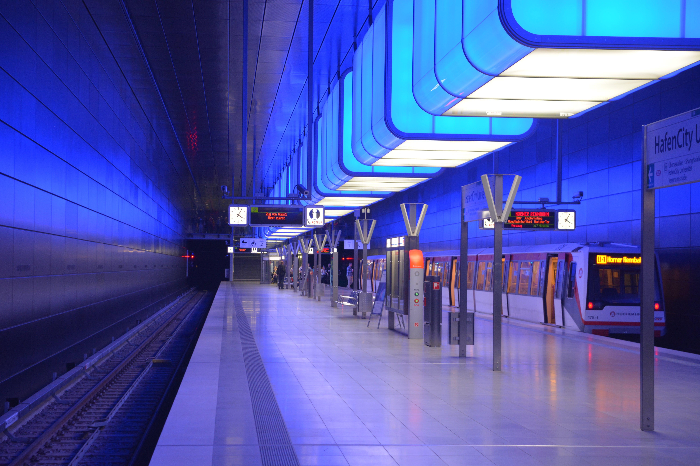 stanice metra, trénovat, tunel