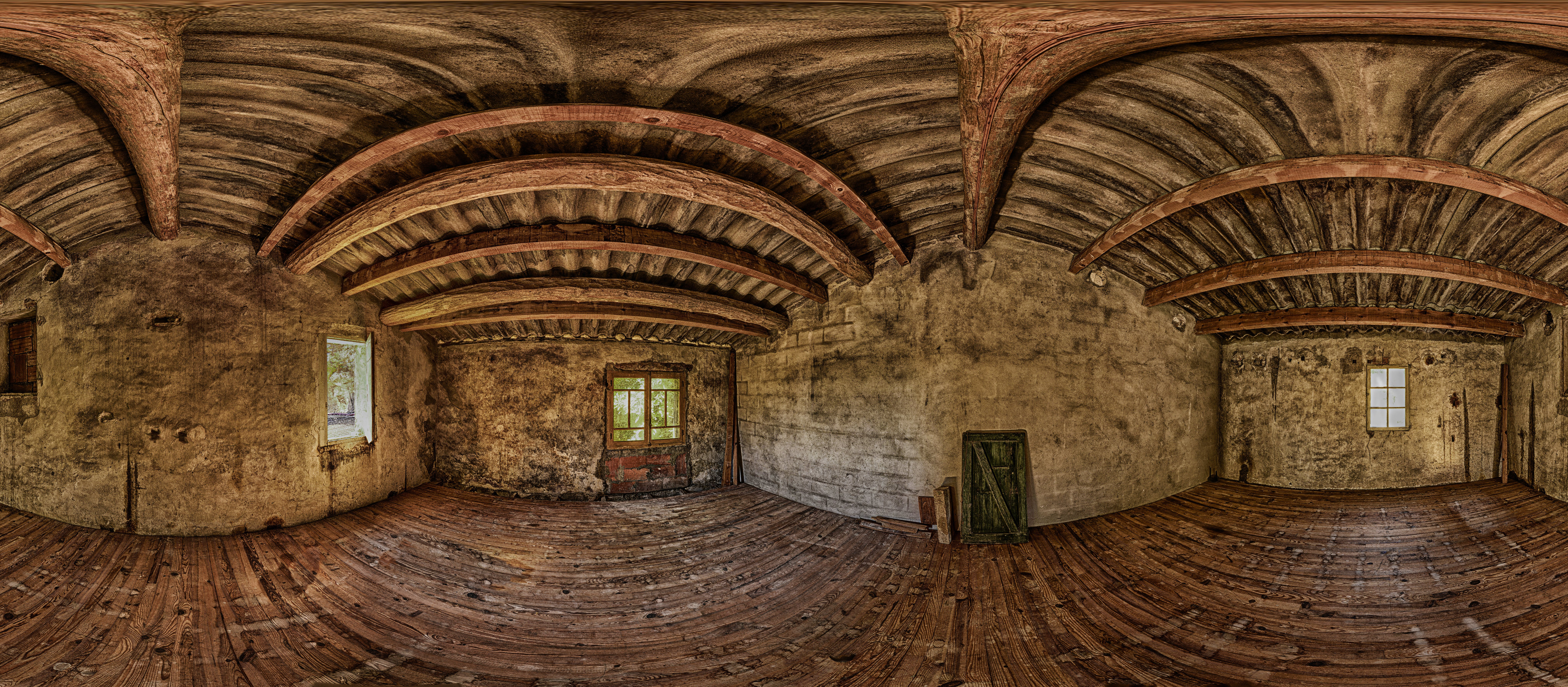 Interior View of Wooden House