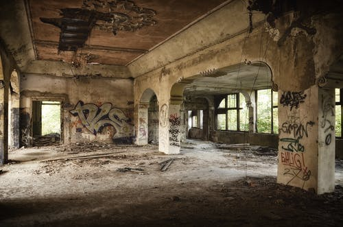 Abandoned Building Full of Graffiti