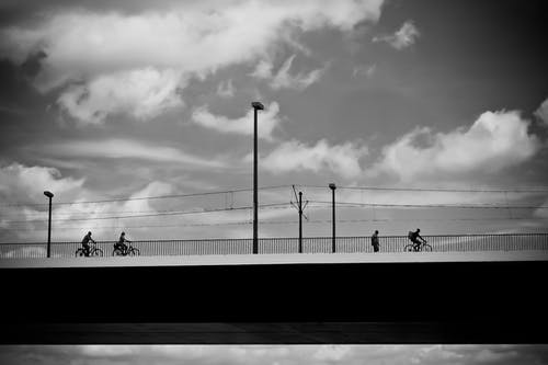 People Riding on Bicycle during Daytime