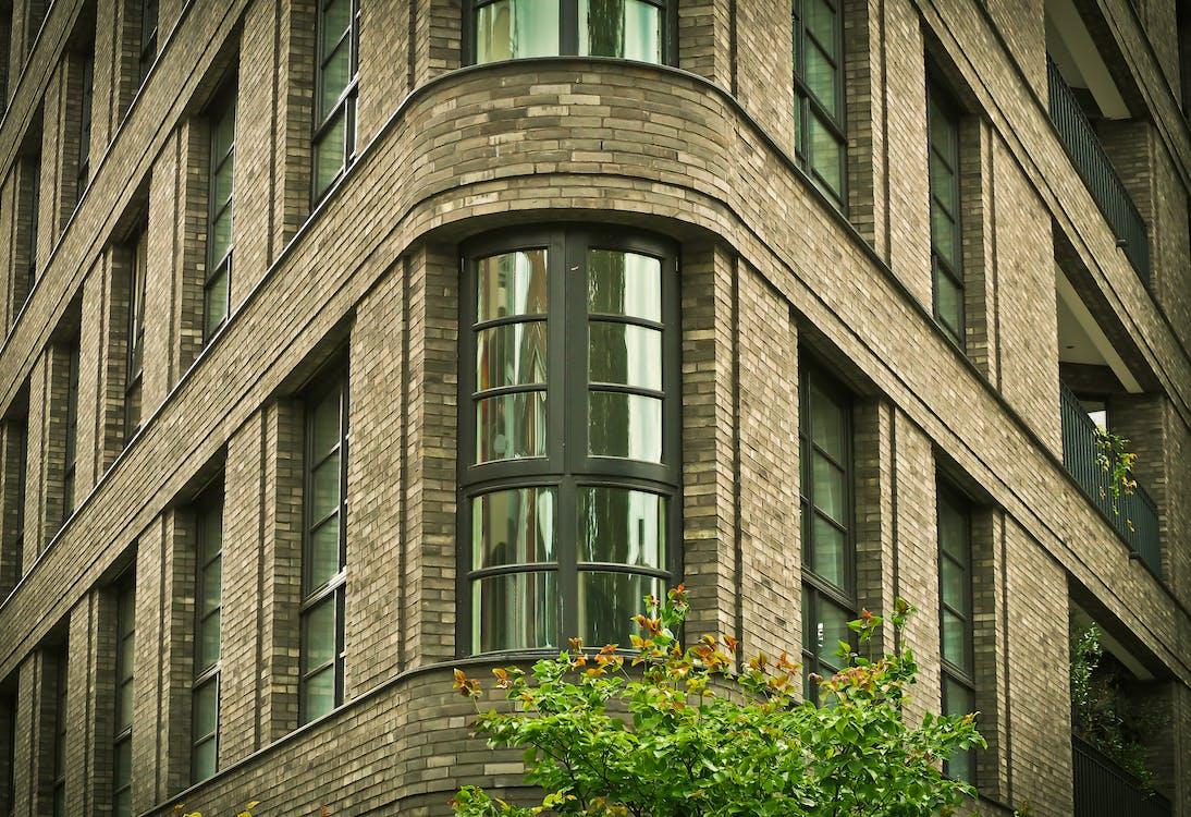 Black Wooden Frame Glass Window Building