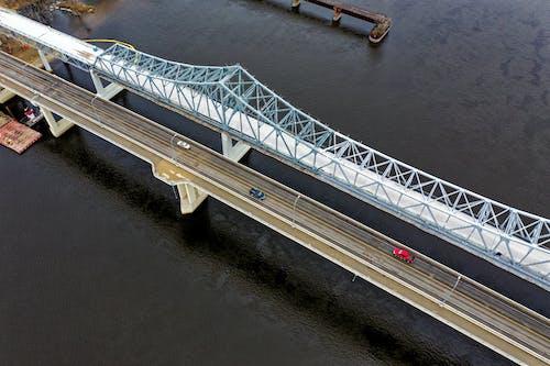 Gratis lagerfoto af arkitektur, bro, droneoptagelse, fra oven