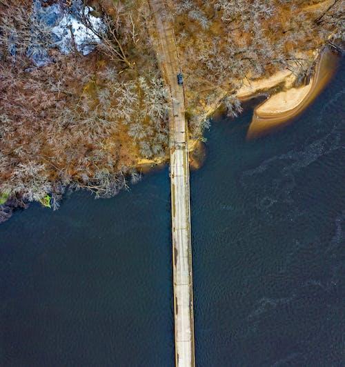 密西西比河, 從上面, 橋, 空中拍攝 的 免费素材照片