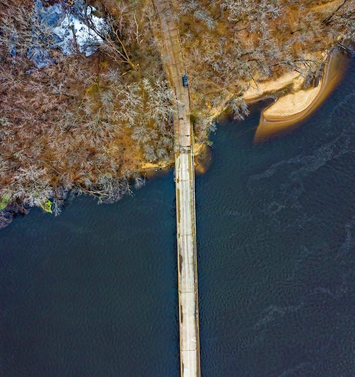 Bird's Eye View Photo Of Bridge
