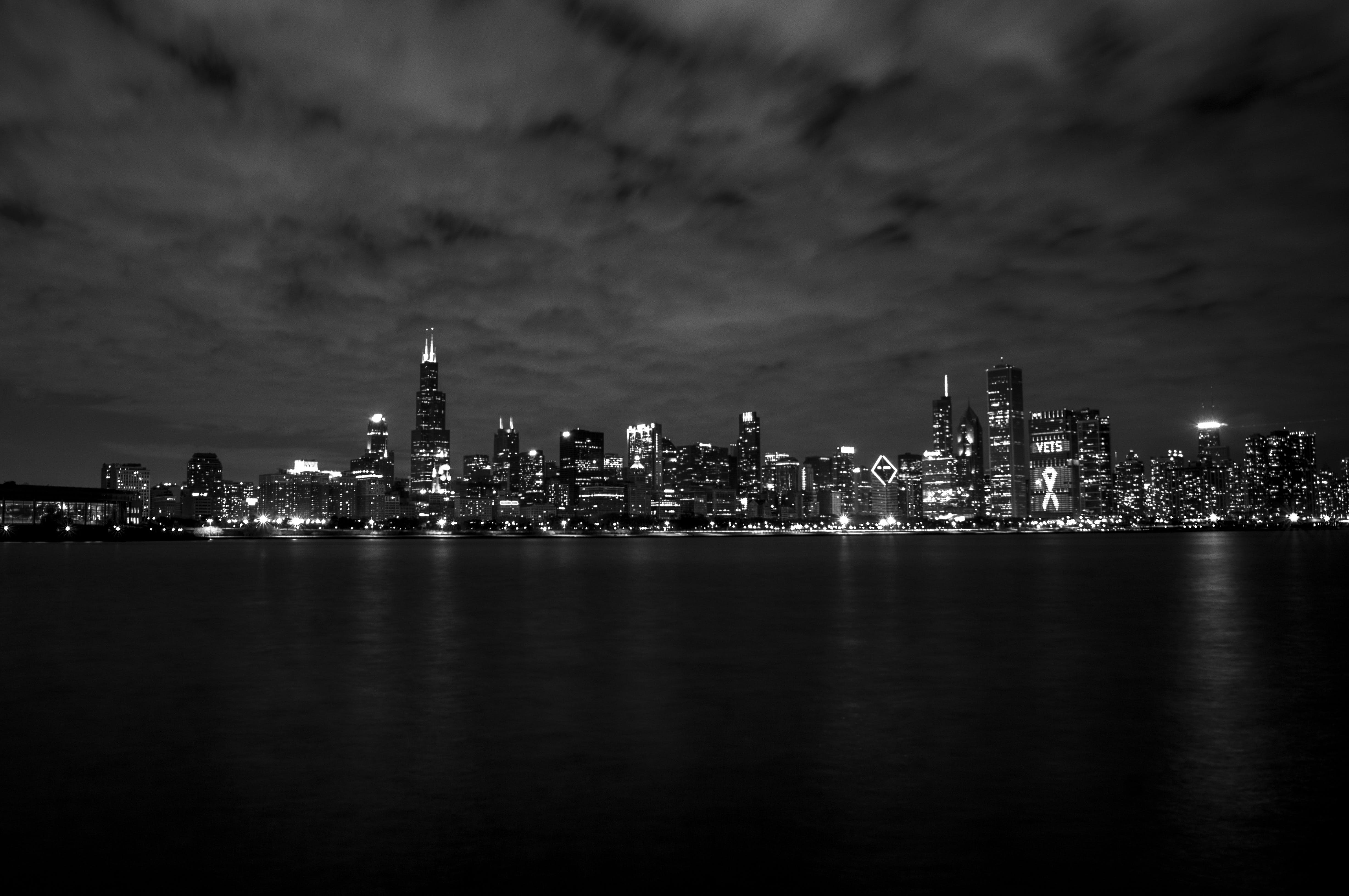 Gray Scale of City Skyline Photography