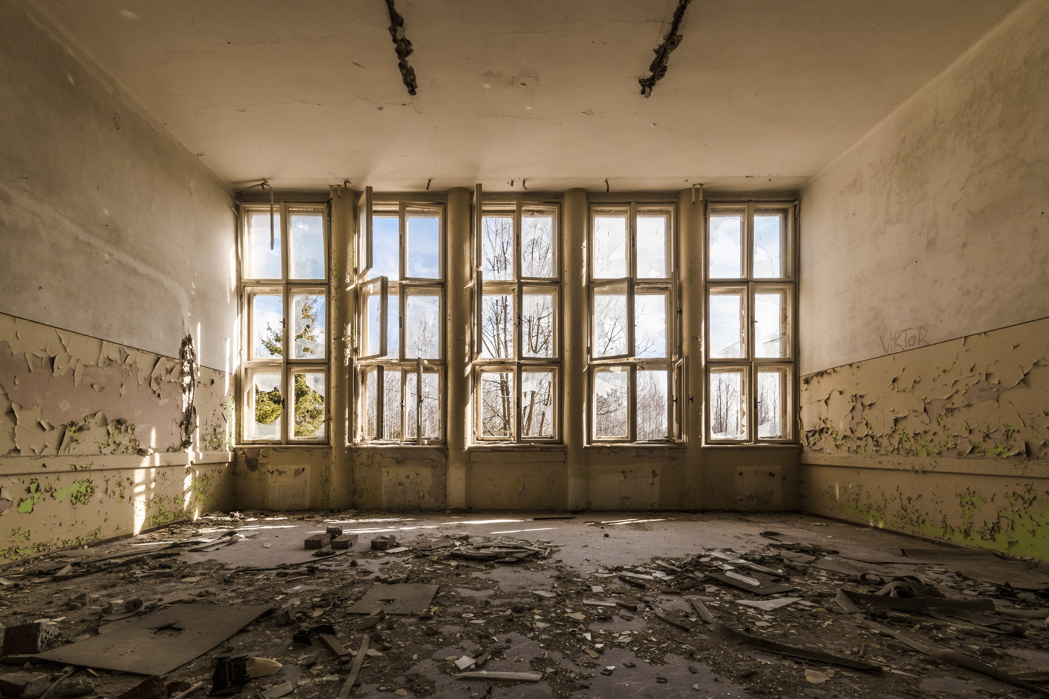 Free stock photo of building, destruction, destroyed, hdr