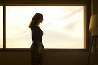 person, woman, silhouette