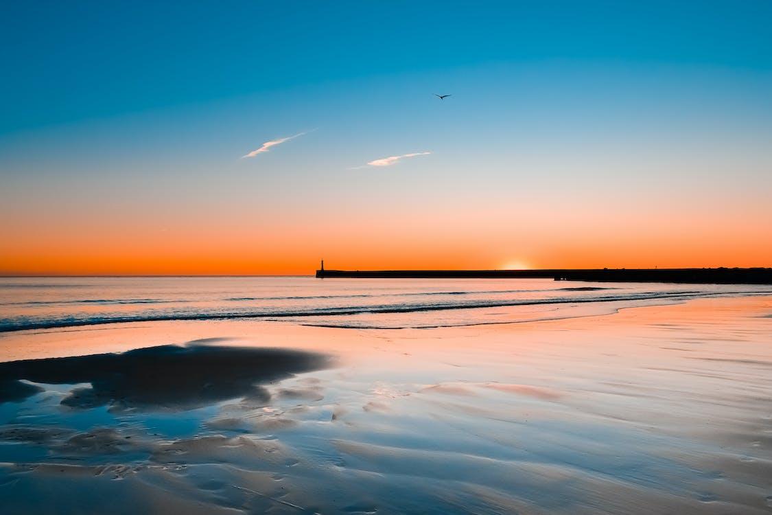 breh, horizont, idylický