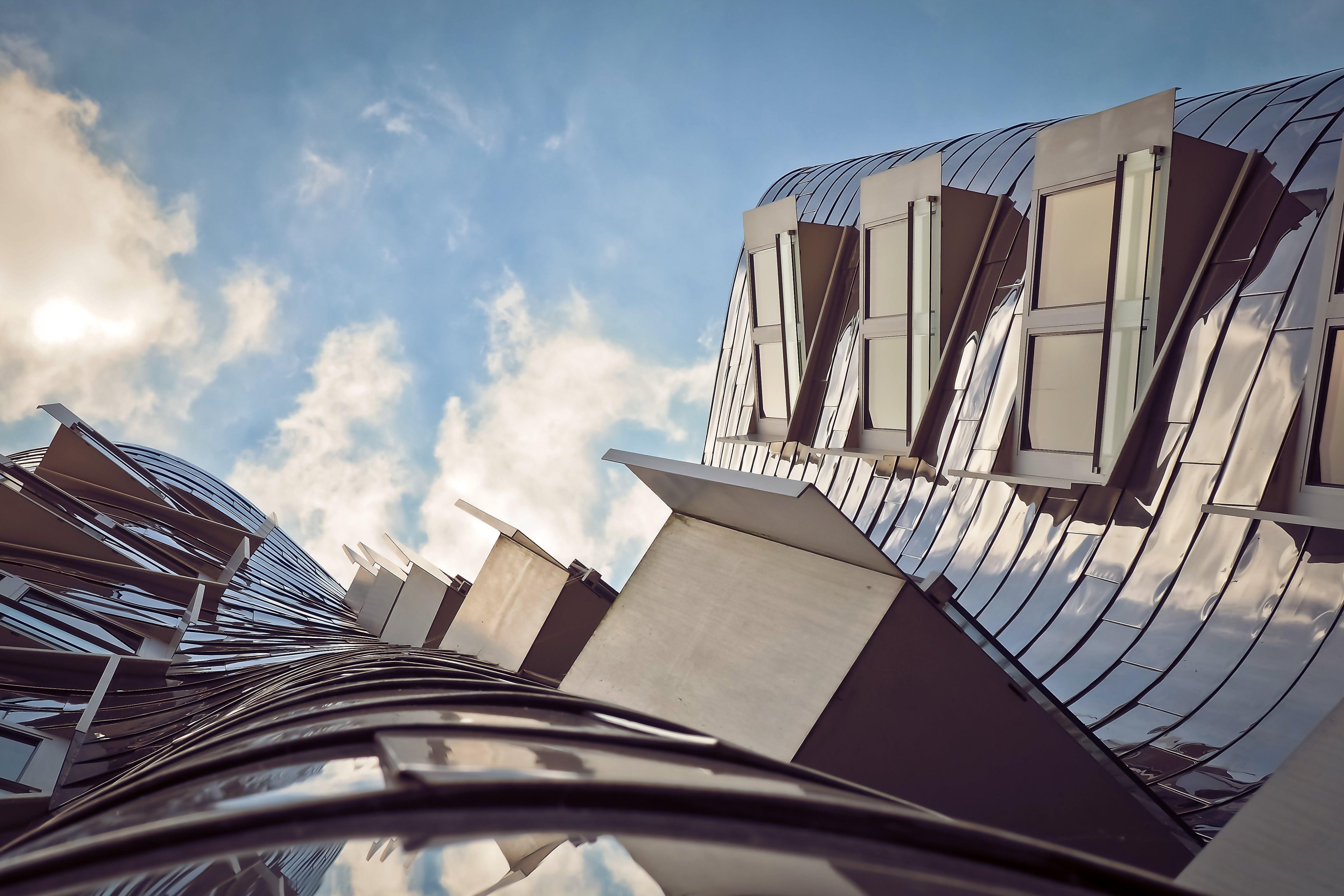 architektura, budova, futuristický