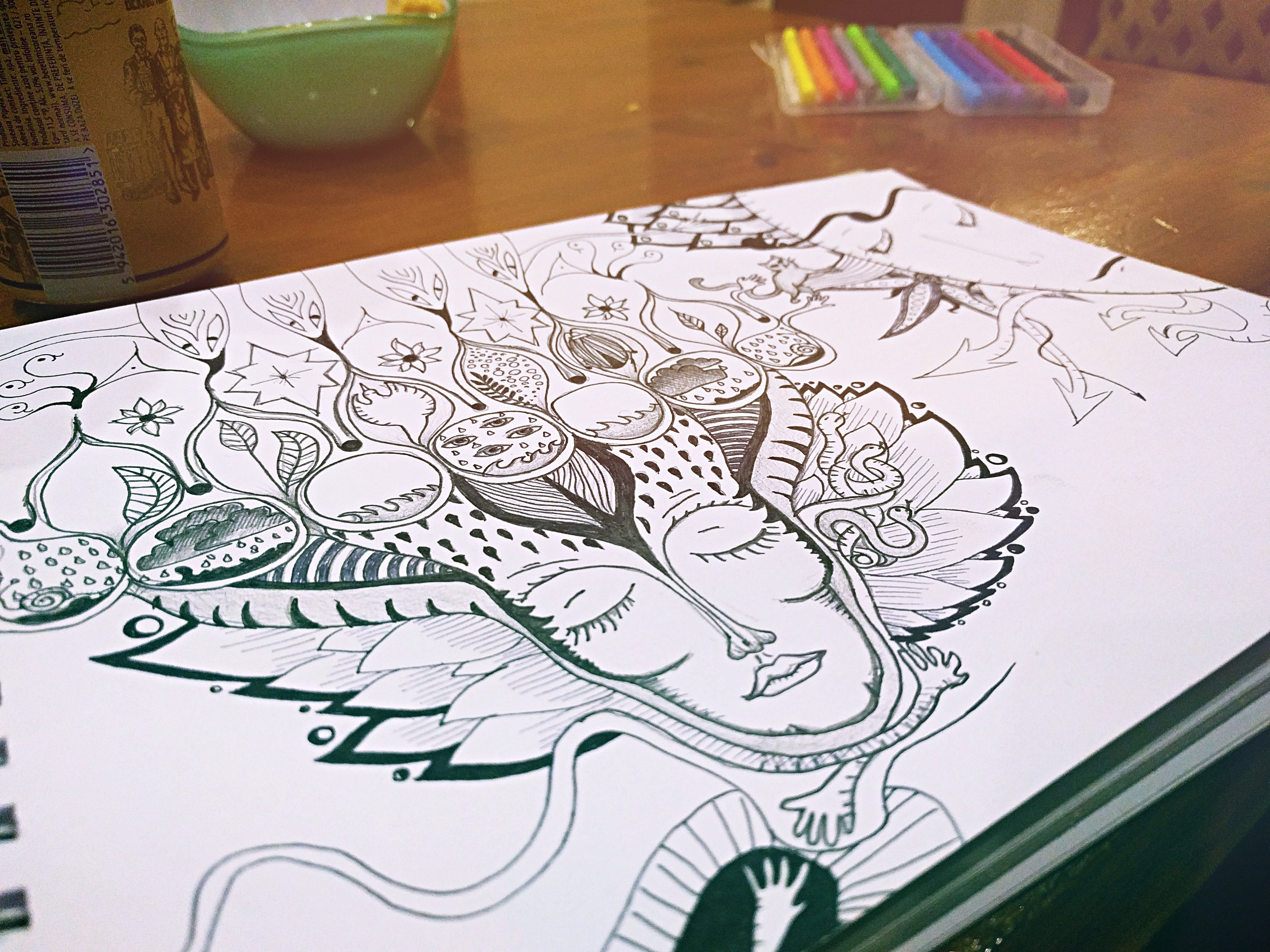 Foto d'estoc gratuïta de art, composició, dibuix, disseny