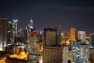 city, night, skyline