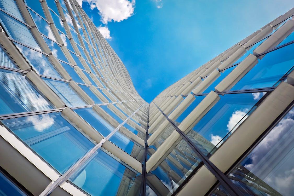 arquitectura, cristal, edificio