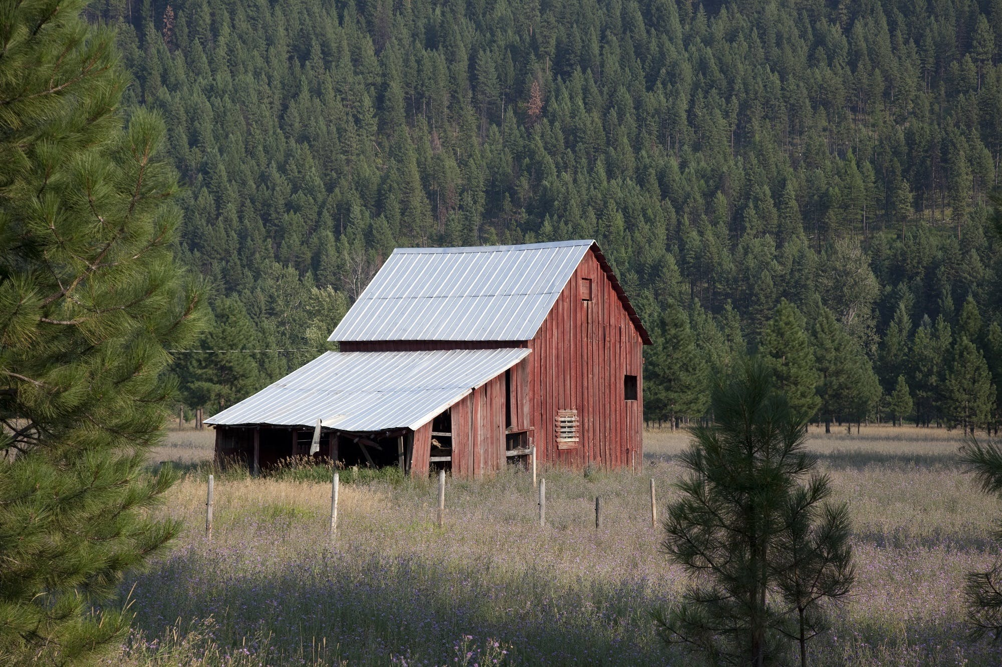 Red Wooden Barn during Daytime