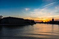 dawn, sunset, water