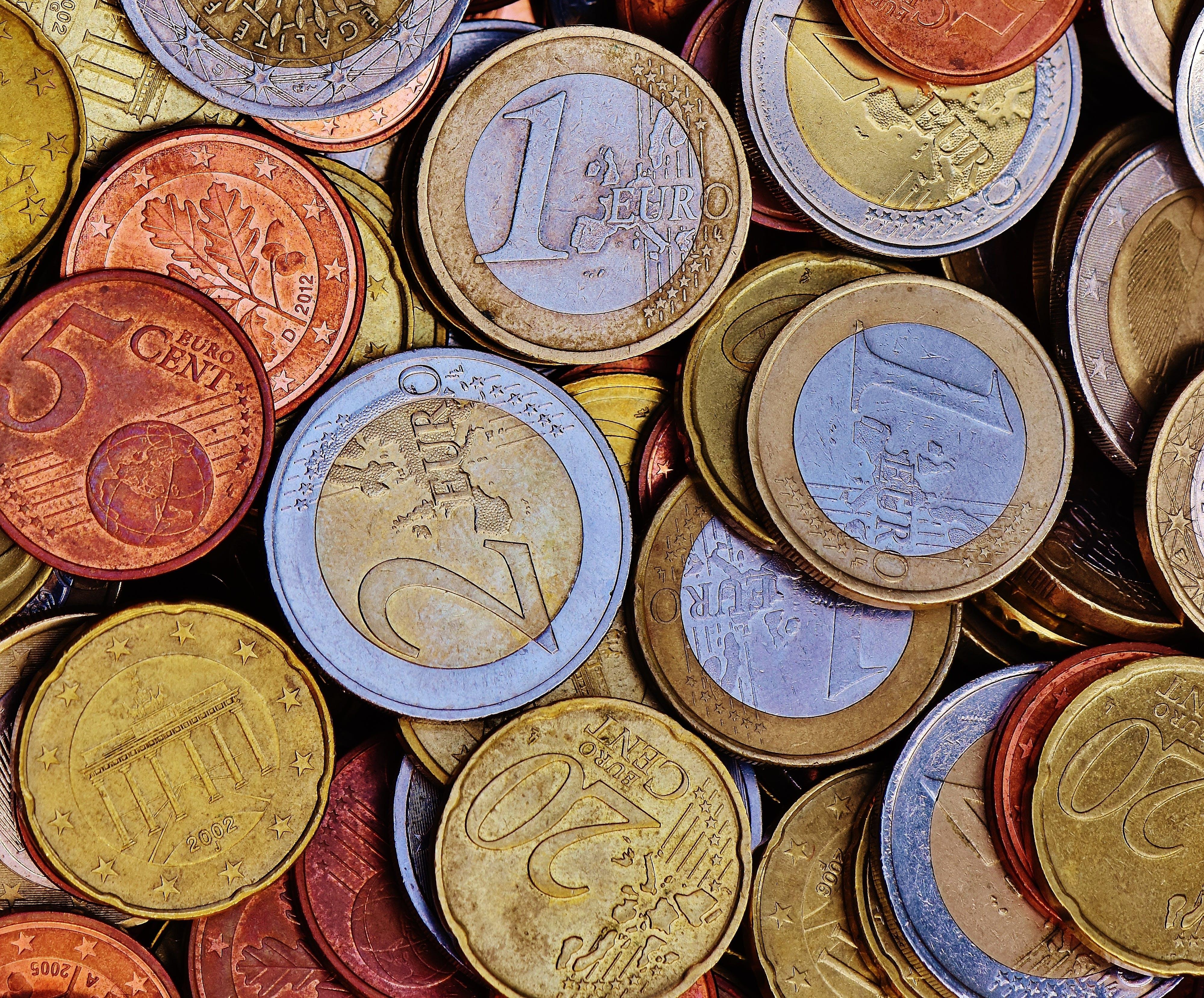Gratis lagerfoto af â € œmønter, aktie, Bank, cent