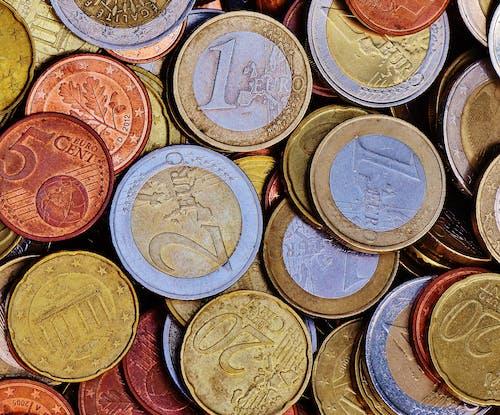 Безкоштовне стокове фото на тему «€ монета, акції, багатство, банк»