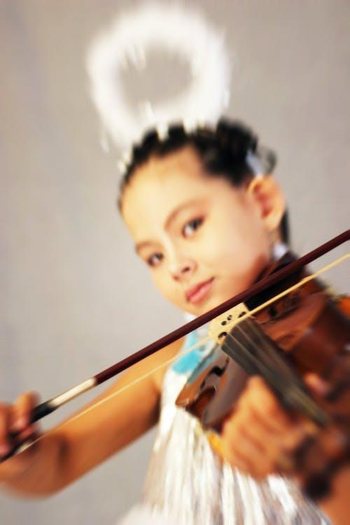 Gratis lagerfoto af kunst, Pige, violin