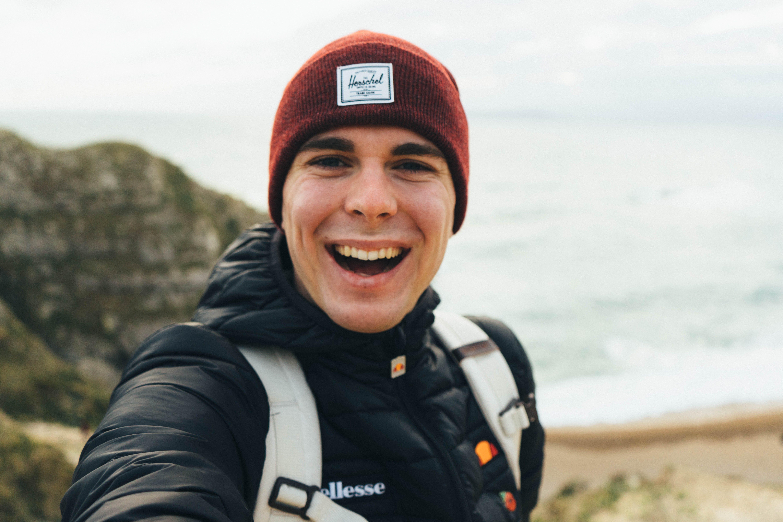 Man Taking Selfie While Smiling