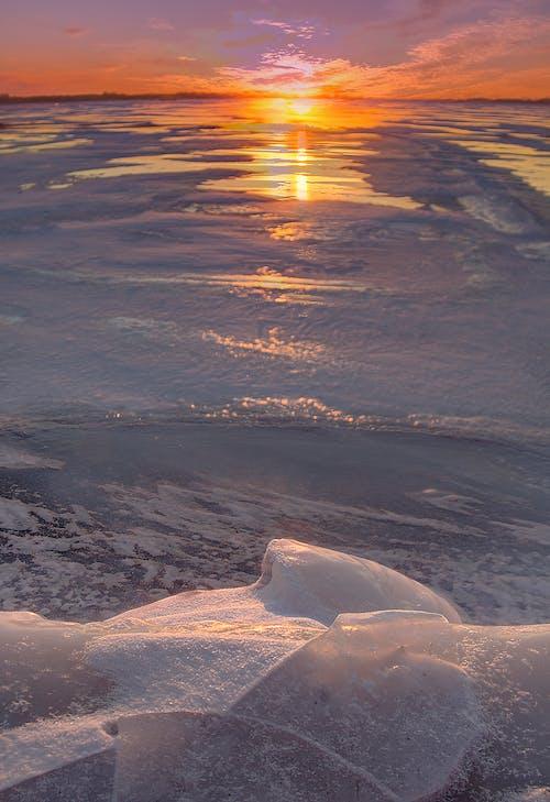 Free stock photo of frozen, ice, lake ontario