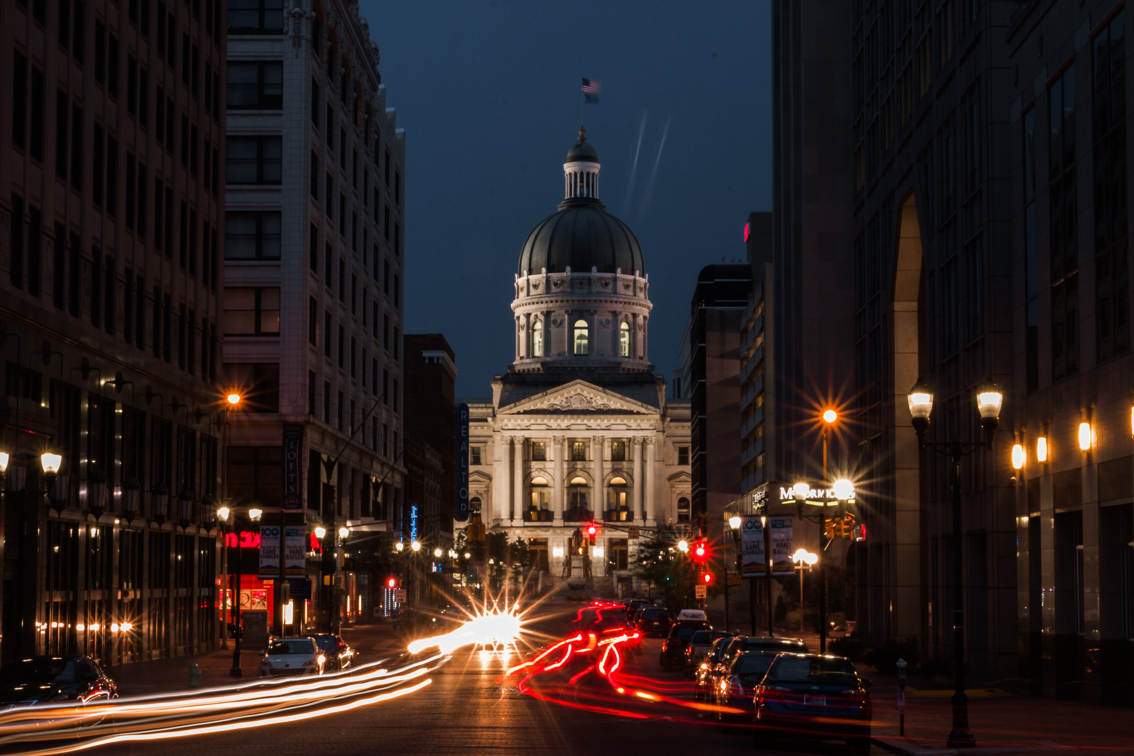 Photos gratuites de amérique, Capitole, centre-ville, circulation
