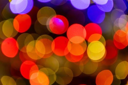 ぼかし, カラフル, ライト, 形状の無料の写真素材