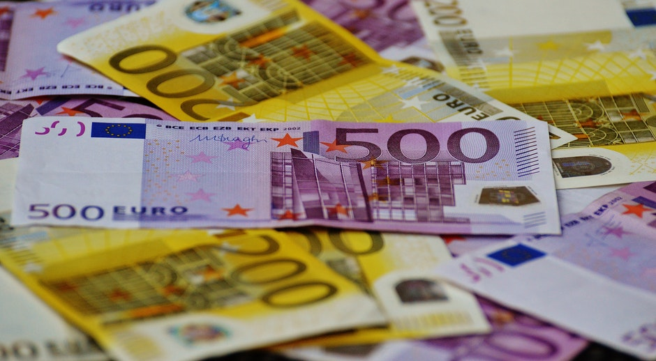500 Euro Banknote Under 200 Banknote