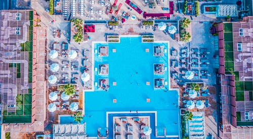 Bird's-eye View of Swimming Pool