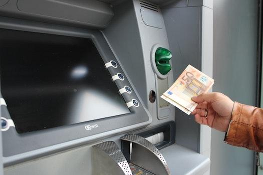 Free stock photo of money, cash, euro, atm