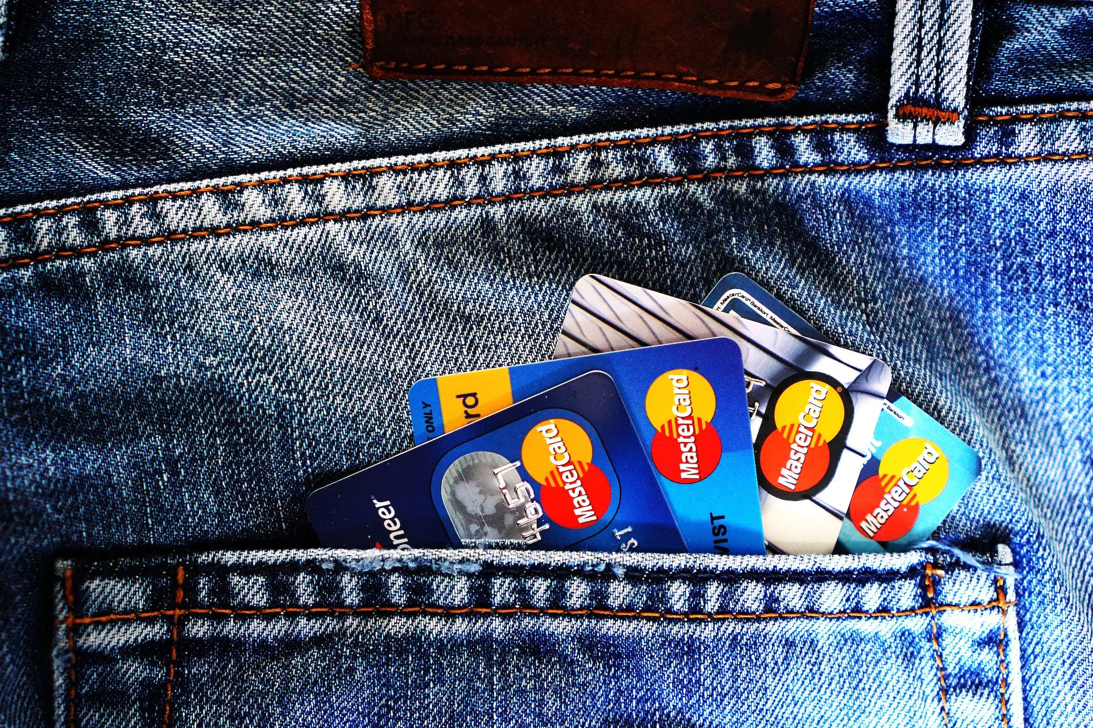 ATM cards in back pocket