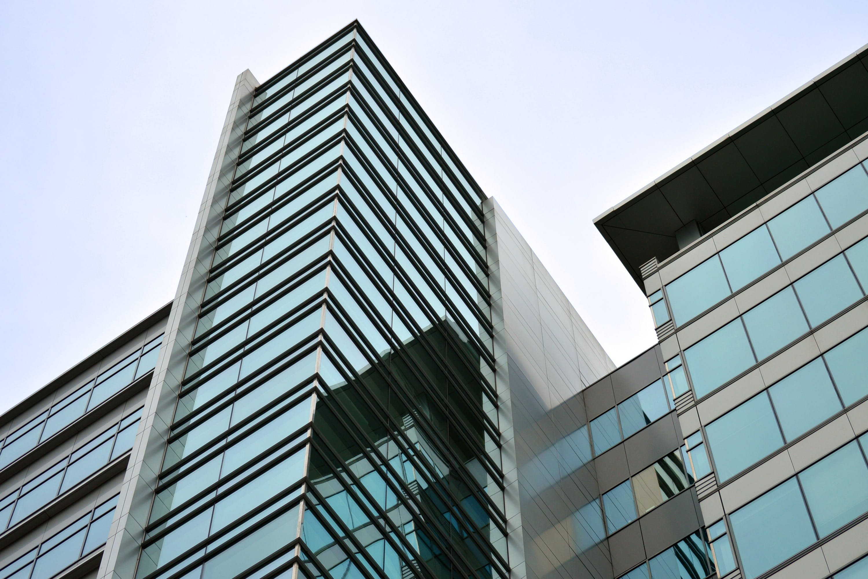 Blue and Black Glass Building Exterior