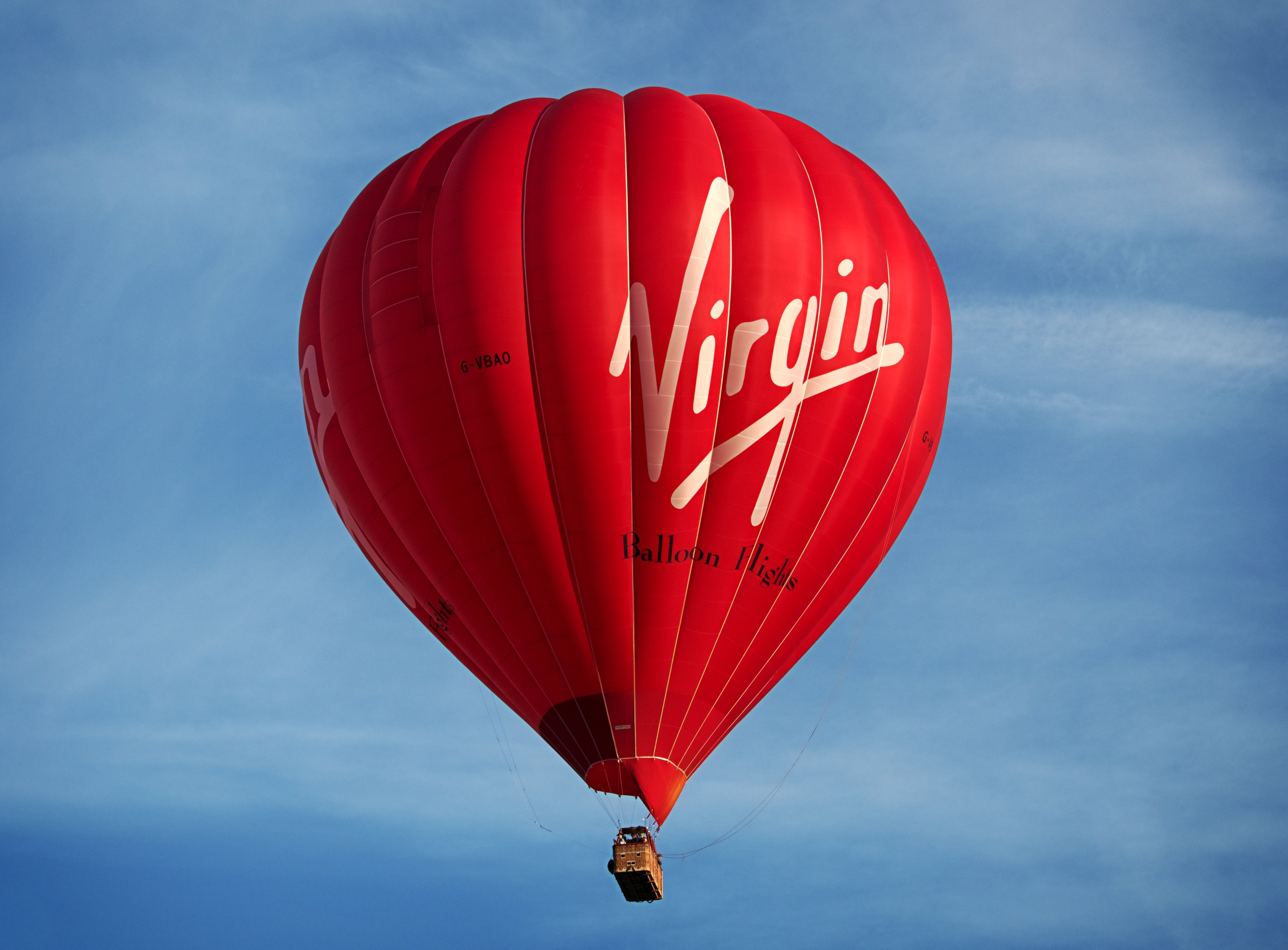 Red Virgin Hot Air Balloon