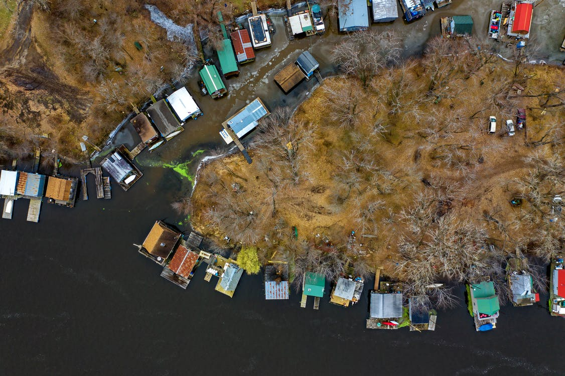 Aerial Photography of Island Near Body of Water