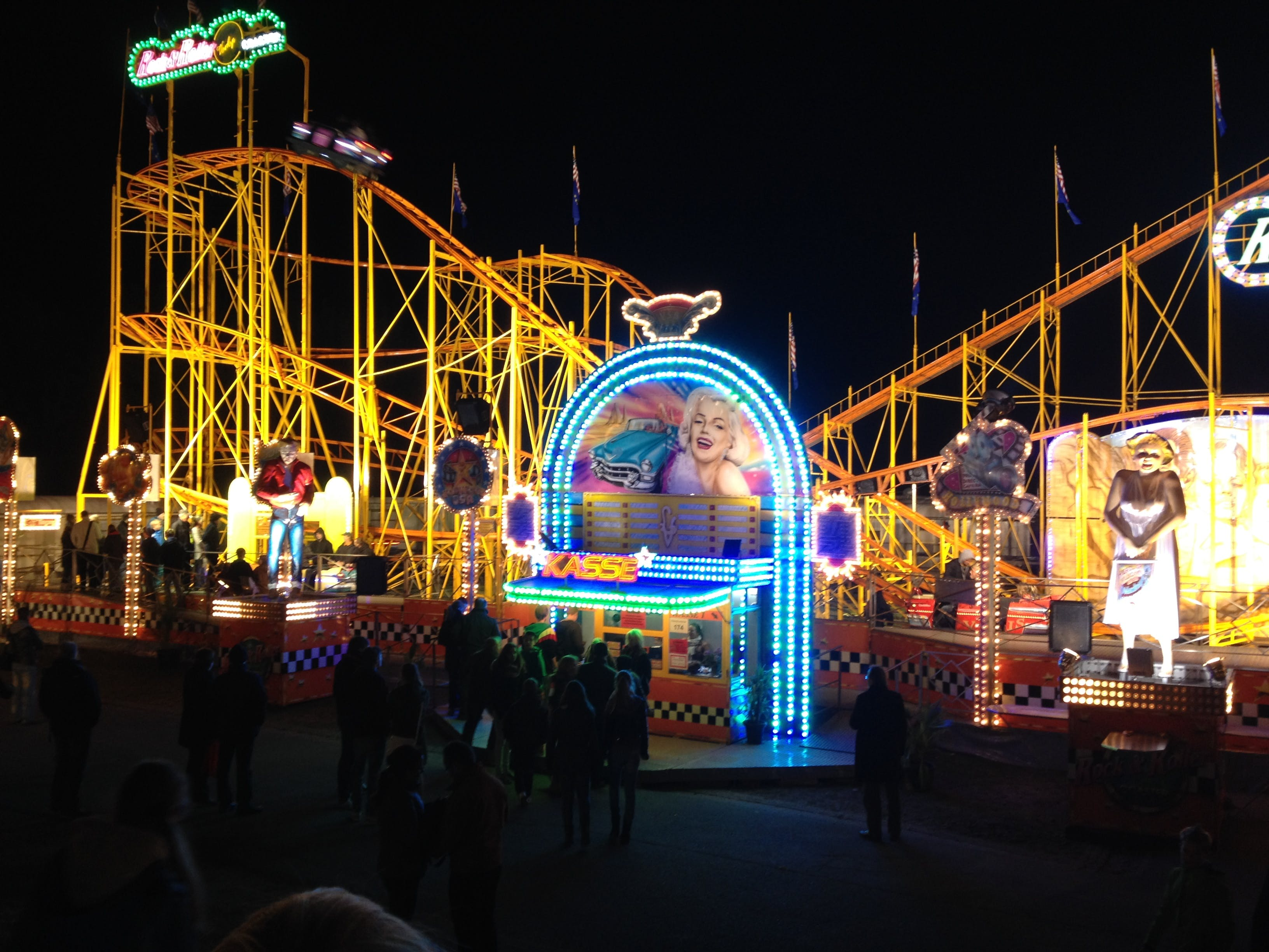 Free stock photo of funfair, roller coaster