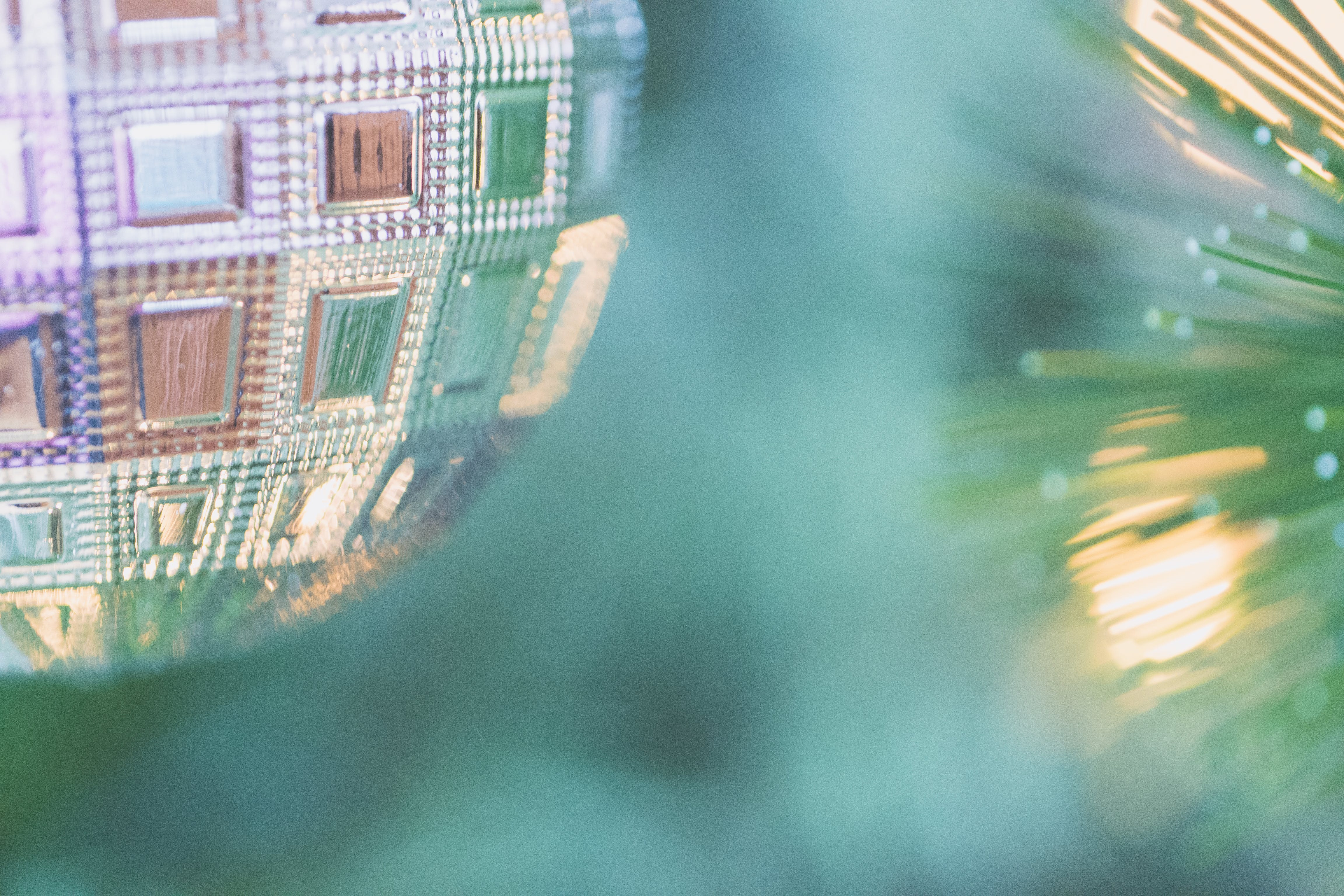 Close Up Photo of Silver Christmas Bauble