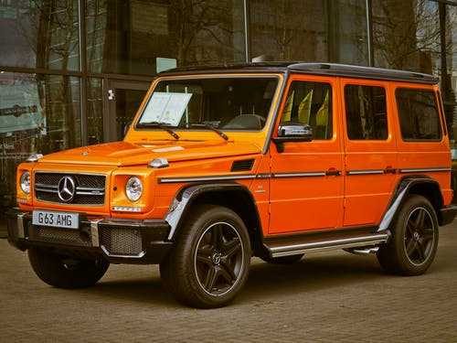 Orange Mercedes Benz G63