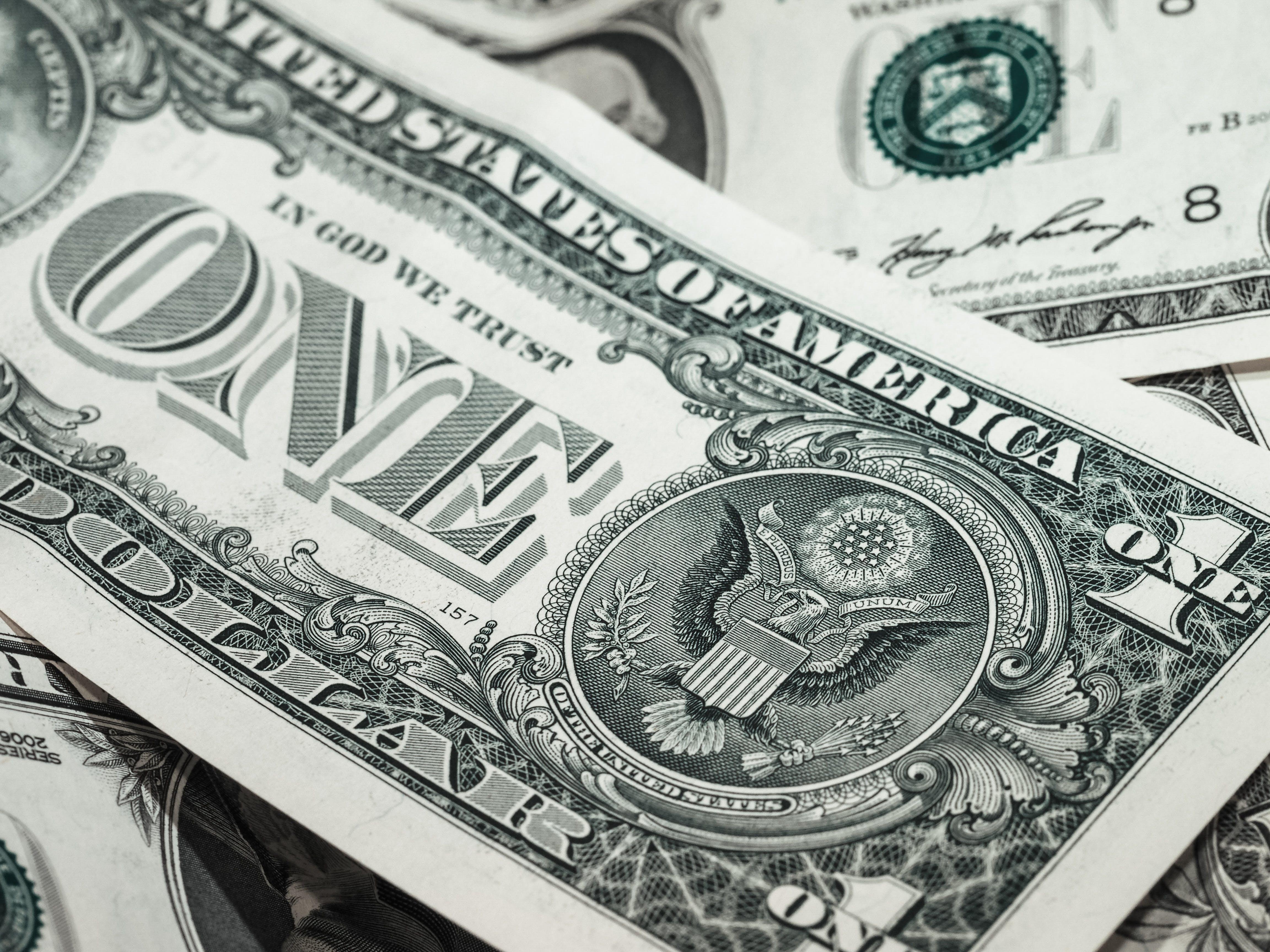 bohatství, dolar, finance